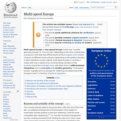 Multi-speed Europe - Wikipedia