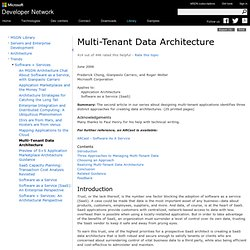 Multi-Tenant Data Architecture