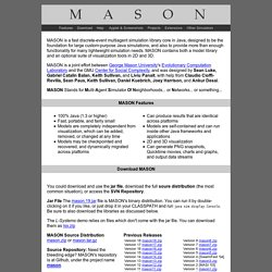 MASON Multiagent Simulation Toolkit