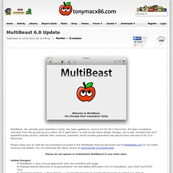 MultiBeast 6.0 Update