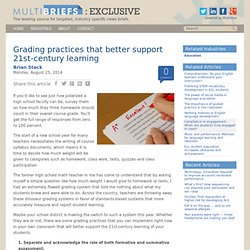 Grading practices that better support 21st‑century learning