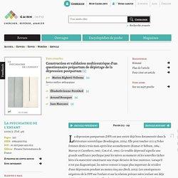 Construction et validation multicentrique d'un questionnaire prépartum de dépistage de la dépression postpartum