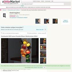 Guirlande LED Laine Feutrée Blanc Multicolore G014 : Décoration pour enfants par ekaterinagalera