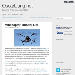 Multicopter Tutorial List