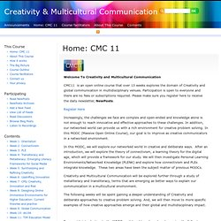 Creativity & Multicultural Communication