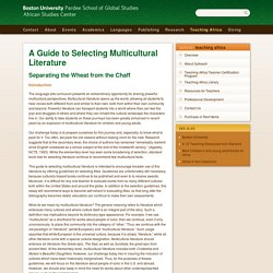 A Guide to Selecting Multicultural Literature » African Studies Center