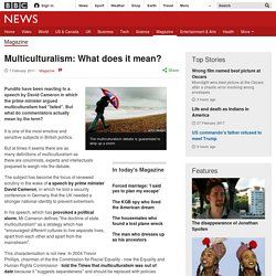Multiculturalism: What does it mean?