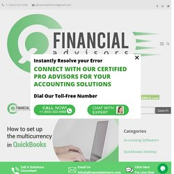 How to set up multicurrency in QuickBooks - Q Financial Advisors