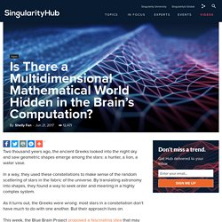 Is There a Multidimensional Mathematical World Hidden in the Brain's Computation?