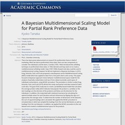 A Bayesian Multidimensional Scaling Model for Partial Rank Preference Data - Academic Commons