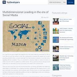 Multidimensional Leading in the era of Social Media - TopDevelopers