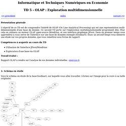 TD 5 - OLAP : Exploration multidimensionnelle