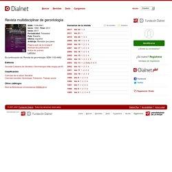 Revista multidisciplinar de gerontología - Dialnet