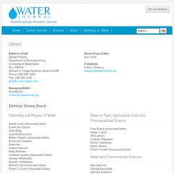 WATER - Online Multidisciplinary Research Journal