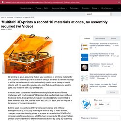 'Multifab' 3D-prints a record 10 materials at once, no assembly required (w/ Video)
