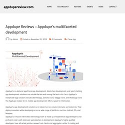 Appdupe Reviews – Appdupe's multifaceted development – appdupereview.com
