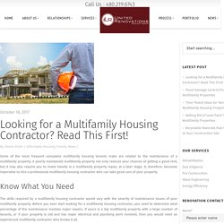 What To Look For In A Multifamily Housing Contractor