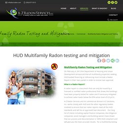 Multifamily Radon mitigation, Multifamily Radon Testing