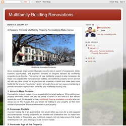 Reasons Periodic Multifamily Property Renovations Make Sense