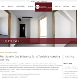 Find Multifamily Vendor Due Diligence assistance services in USA
