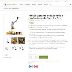 Presse-agrume multifonction professionnel - 3 en 1 - Gris
