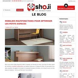 Mobilier multifonctions pour optimiser les petits espaces - Shoji