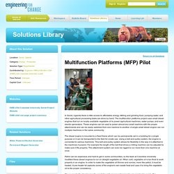 Engineering for Change - Multifunction Platforms (MFP) Pilot