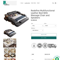 Redefine Multifunctional Leather Bed With Massage Chair and Speakers – Bedsredefine