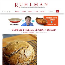 Gluten Free Multigrain Bread Recipe