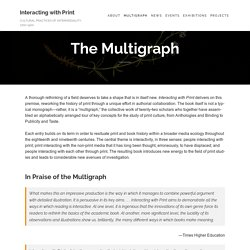 The Multigraph – Interacting with Print