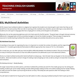 ESL multilevel activities