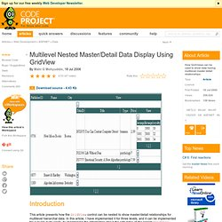 Multilevel Nested Master/Detail Data Display Using GridView