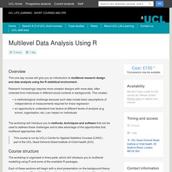 Multilevel Data Analysis Using R