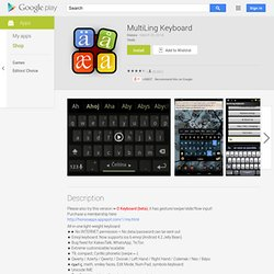 MultiLing Keyboard - Android Apps on Google Play