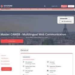 Master CAWEB - Multilingual Web Communication, Strasbourg, France. Online Master! 2021