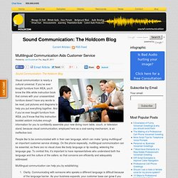 Multilingual Communication Aids Customer Service