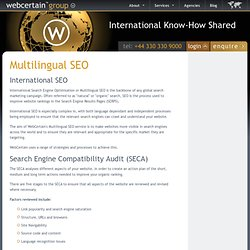 Multilingual SEO: Multilingual Search Engine Optimisation - WebCertain