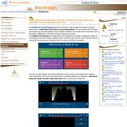 Plateforme multilingue gratuite utilisant les clips vidéo pour améliorer la compréhension de l'oral- Autour des langues