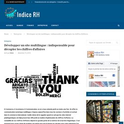 Développer un site multilingue : indispensable pour décupler les chiffres d'affaires