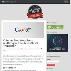 Créer un blog WordPress multilingue à l'aide de Global Translator