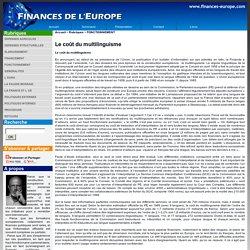 Le coût du multilinguisme - FINANCES DE L'EUROPE - Tout savoir sur le budget de l'Europe