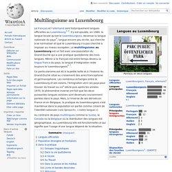 Multilinguisme au Luxembourg