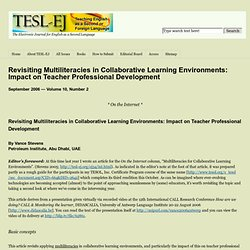 Revisiting Multiliteracies in Collaborative Learning Environments: Impact on Teacher Professional Development