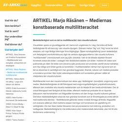 Mediernas konstbaserade multilitteracitet – Mediekonst fostrar! (Klicka på bilden för att öppna filen!)