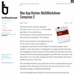 Mac App Review: MultiMarkdown Composer 2