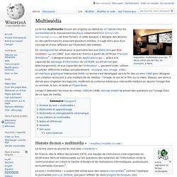 Multimédia - définition