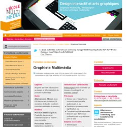 Formation Graphiste Multimédia en alternance