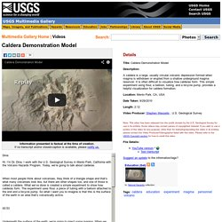 Caldera Demonstration Model