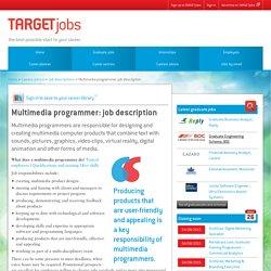 Multimedia programmer: job description
