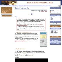 Usages multimédia - Site d'aide de l'offre SPIP établissement
